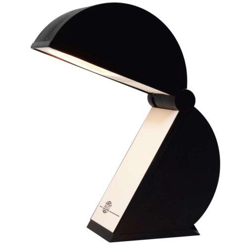 Mario Bertorelle table lamp Disco black plastic foldable JM RDM Massanzago Italy 1980s 1990s Pacman