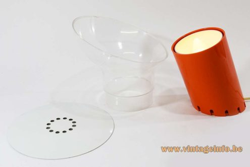 Rodolfo Bonetto Nitia table lamp Design House Harvey Guzzini 1972 acrylic E14 socket 1970s MCM Perspex