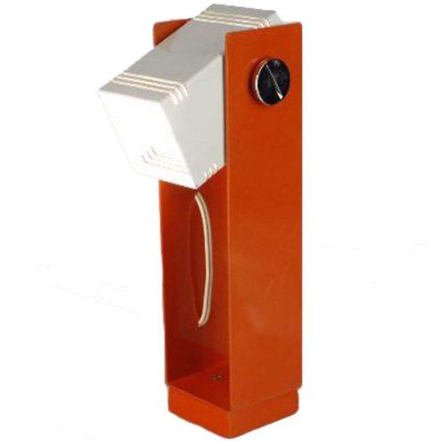 Estiluz geometric table lamp in orange and white metal adjustable E27 socket 1970s Spain