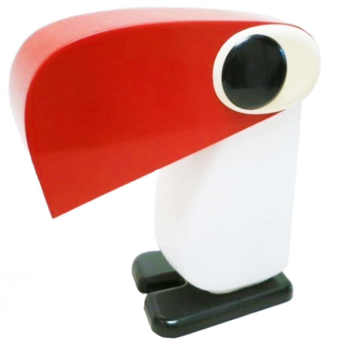 rnando Cassetta Thirza the toucan table lamp 1970 Tacman Manara Italy Empoli opal glass vintage MCM