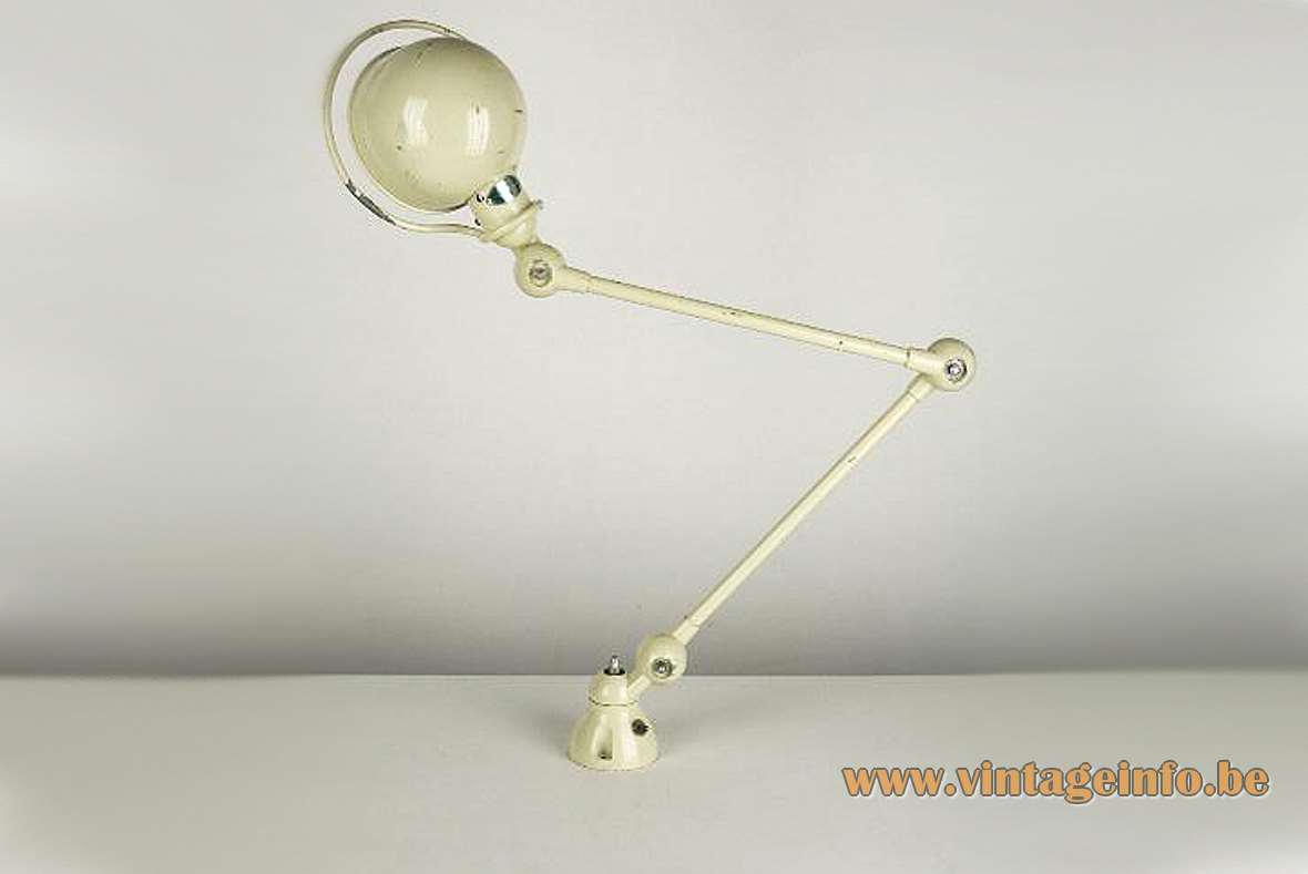 Jieldé La Standard work lamp design: Jean-Louis Domecq industrial white metal table lamp 1950s 1960s