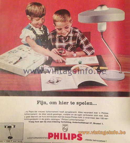 Louis Kalff Romeo Desk Lamp - 1960s Philips Publicity Picture