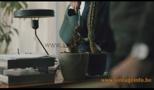 Louis Kalff Romeo desk lamp used as a prop in the 2017 Tv series Unité 42