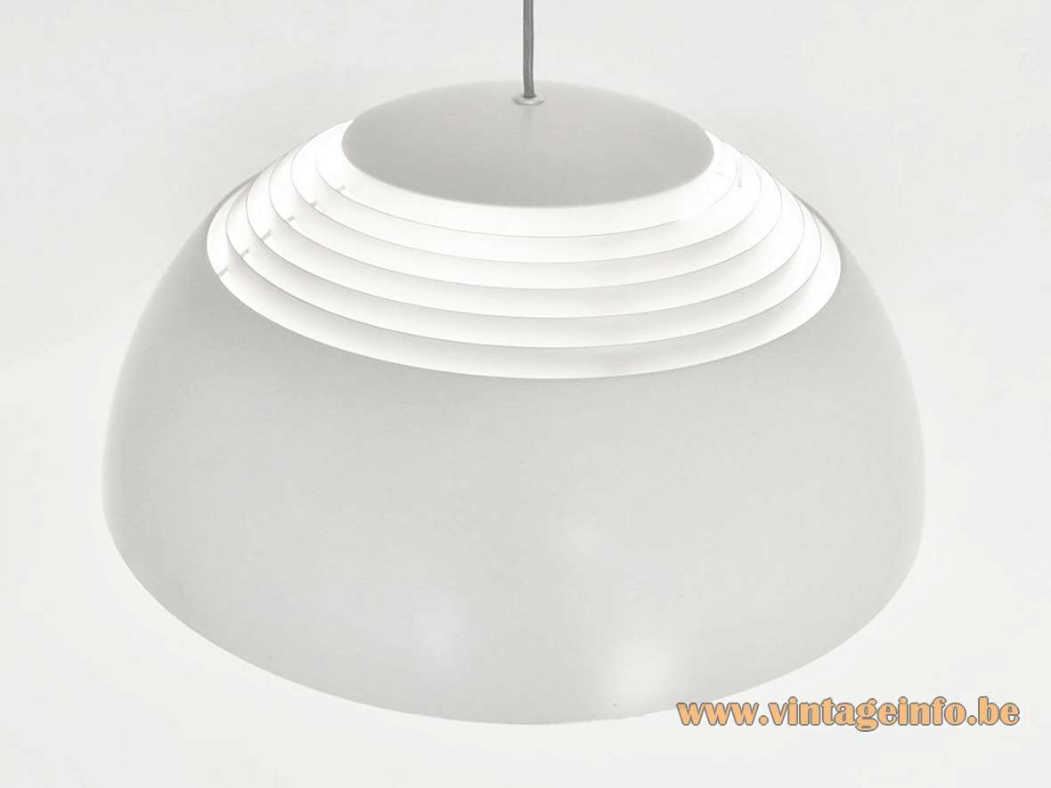 Louis Poulsen AJ Royal pendant lamp designed in 1957 by Arne Jacobsen 2 models Produced in Denmark MCM