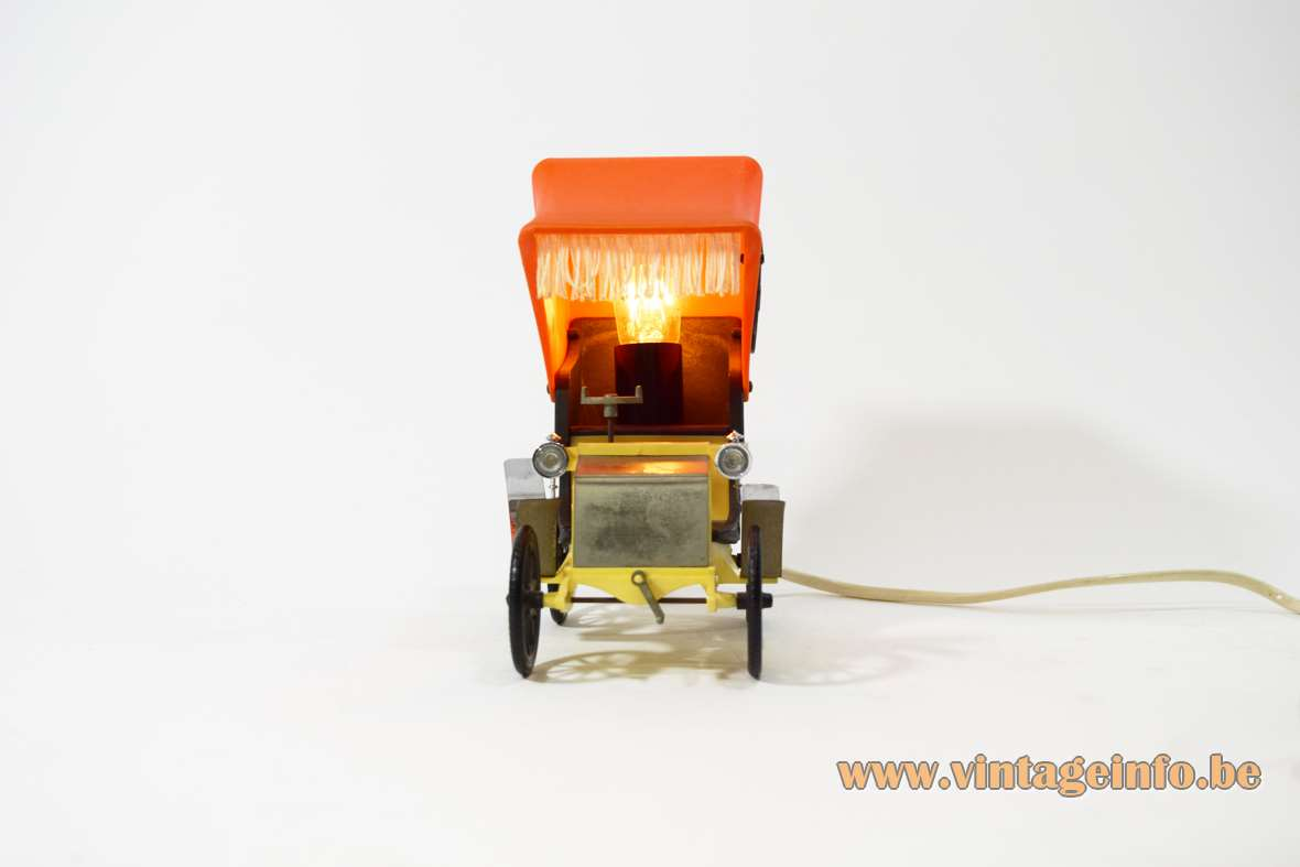 OTF Oldtimer Table Lamp Old Timer Ferrari Verona, Italy 1960s 1970s car auto light MCM 1900s