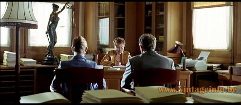 Valenti leather table lamp used as a prop in the 2006 film Du Jour au Lendemain