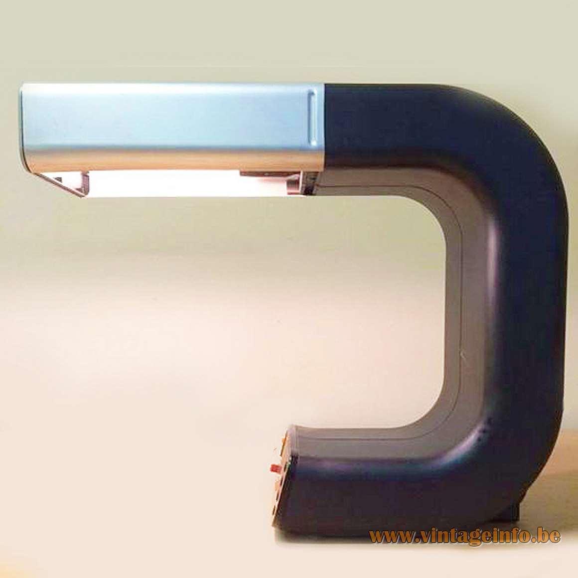 Robert Pfäffle KG. 1970s Knox Design Team - Clock/Alarm desk lamp Elektrotechnische Fabrik, Villingen-Schwenningen MCM