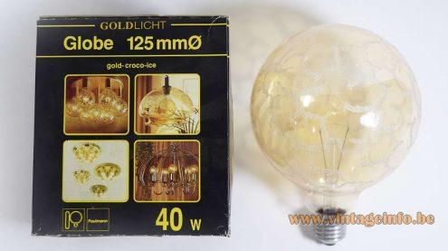 Doria Croco-Ice Cascade Chandelier - Paulmann Globe Light Bulb
