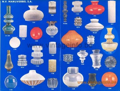 Holmegaard Table Lamp - Glasfabriek De Rupel Boom 1960s Catalogue Picture