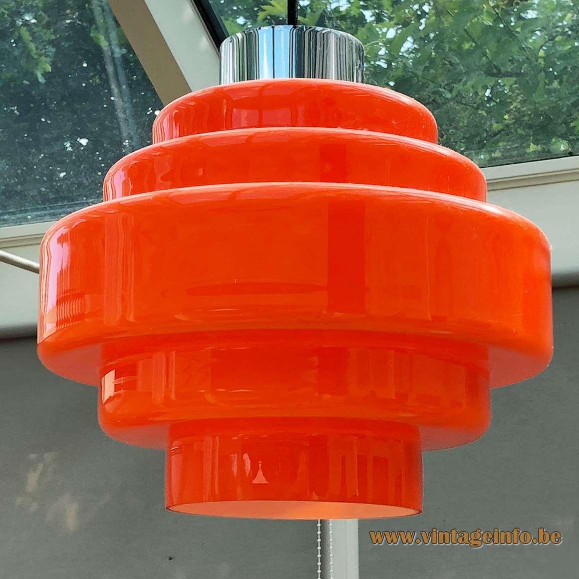 Herwig & Frank Sterckx pendant lamp designed for De Rupel Glass, Boom in 1968 – 1969