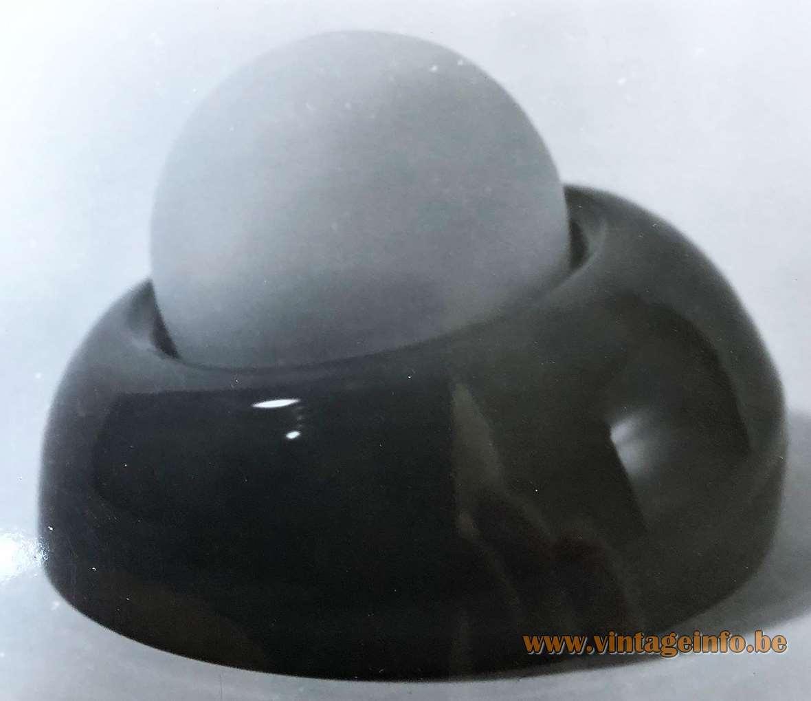Herwig & Frank Sterckx round table lamp designed for De Rupel Glass, Boom - Expo 1970