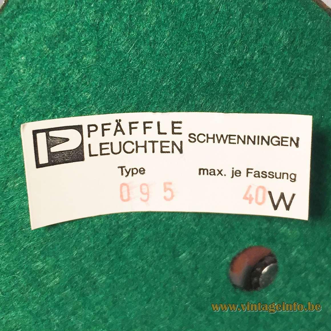 Robert Pfäffle KG. 1970s desk lamp green metal black gooseneck Elektrotechnische Fabrik, Villingen-Schwenningen MCM