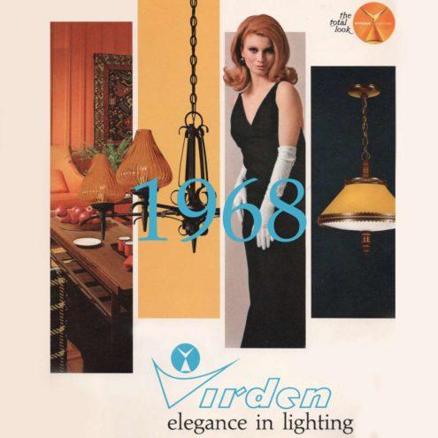 Virden - Elegance In Lighting 1968, Lighting Catalogue - cover