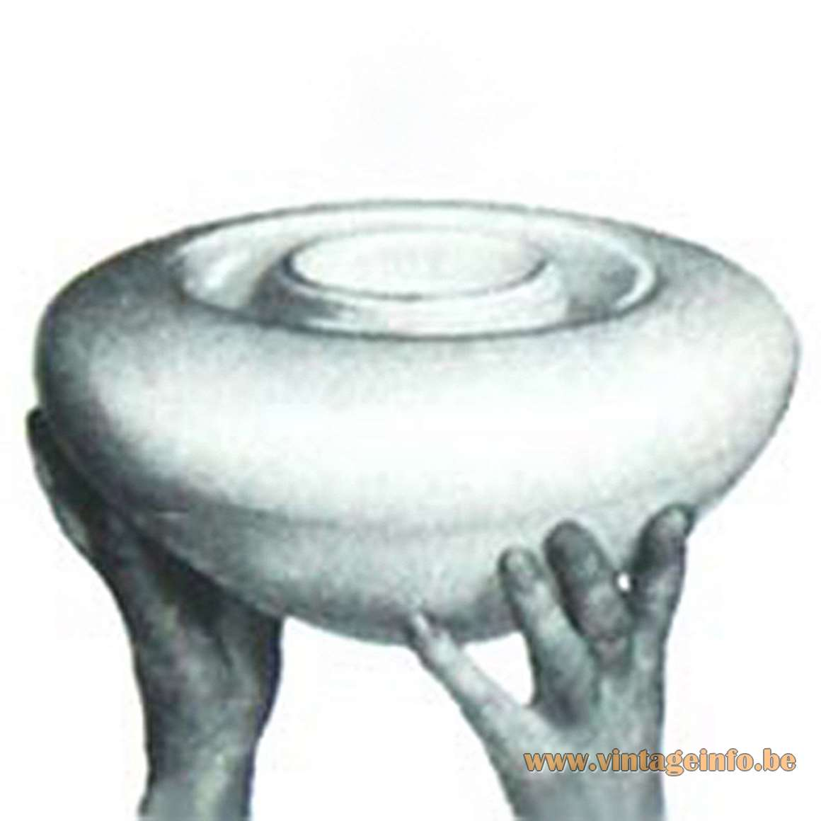 Wilhelm Wagenfeld WV 339 flush mount Lindner Leuchten white opal glass porcelain E27 socket 1950s 1960s