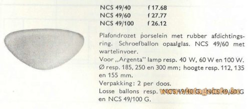 Wilhelm Wagenfeld WV 339 flush mount Lindner Leuchten white opal glass porcelain Philips catalogue NCS 49