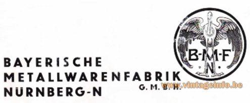 BMF-N Logo Bayerische Metallwarenfabrik Nürnberg Germany
