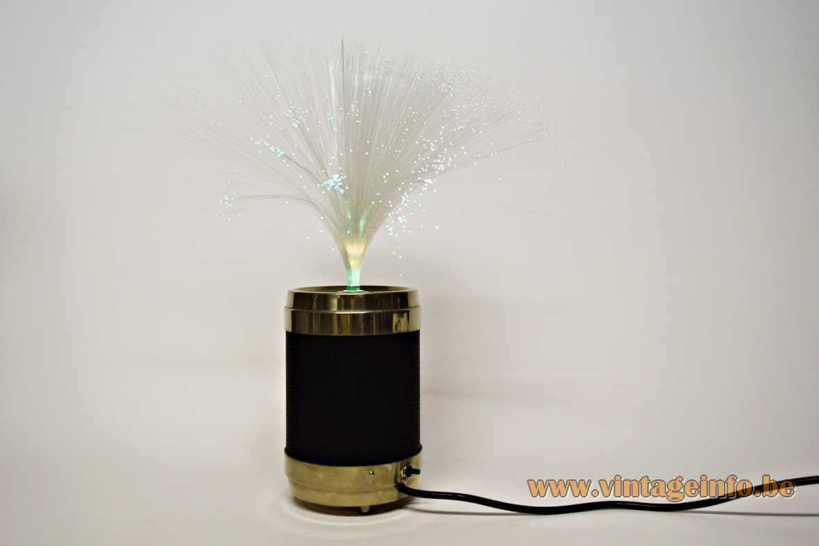 BMF fontänenleuchte glass fiber optic table lamp model 0101-4 Bayerische Metallwarenfabrik Nürnberg 1970s
