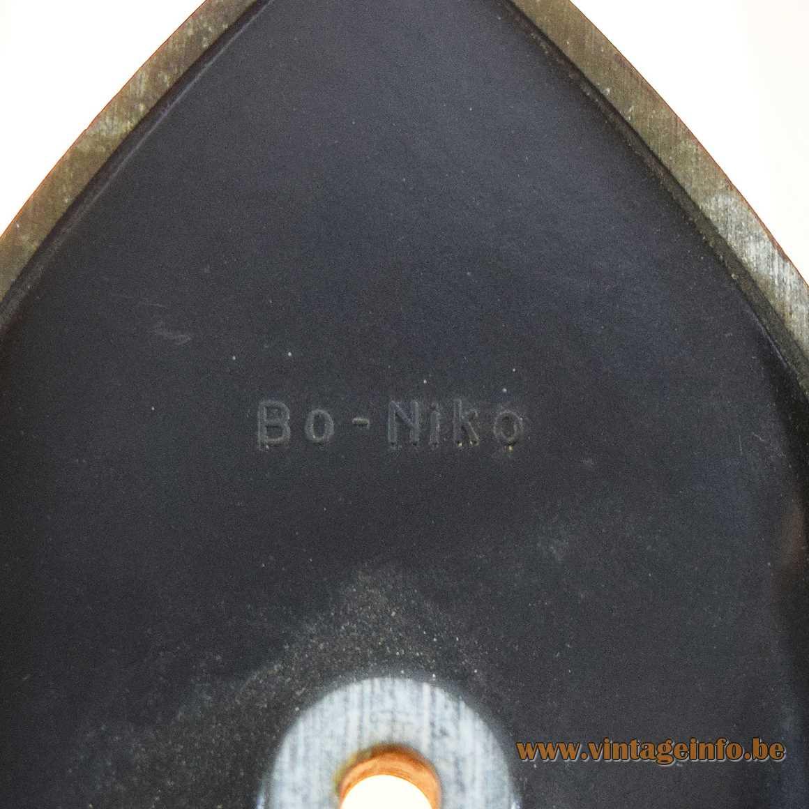 Bo-Niko Logo on a Bo-Niko wall lamp Bakelite 1960s 1970s Sint-Niklaas Belgium