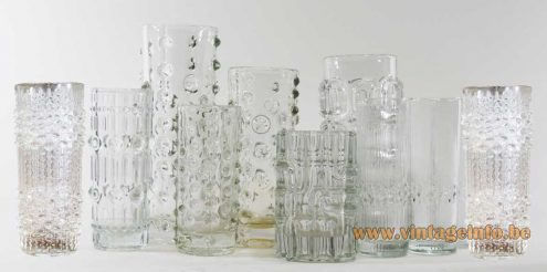 Candle Wax Vases - Hermanova Hut - Sklo Union - Frantisek Peceny - Pavel Panek 1970s glass