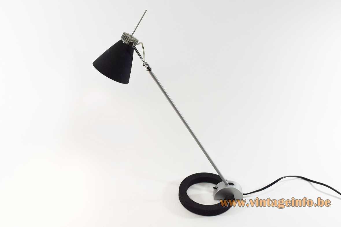 Cast iron circle desk lamp model 1234/21 GU10 socket 50 watt 2000s Massive Lighting Belgium silver colour