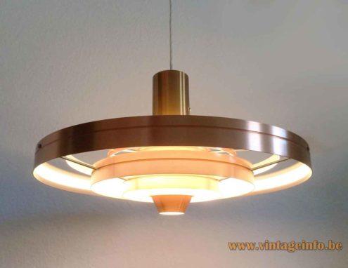 Fog & Mørup Fibonacci pendant lamp copper coloured anodized aluminium version