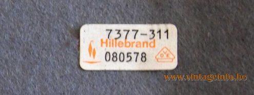 Hillebrand 7377 desk or table lamp black aluminium lampshade chrome rod 1970s MCM Germany mushroom label