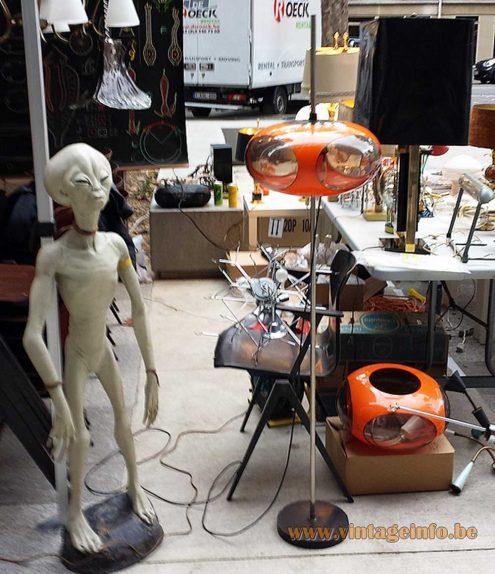 Luigi Colani UFO Floor Lamp at the Undesignable 2015 design fair in Paris, France