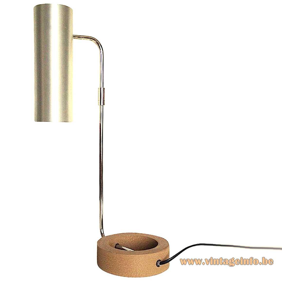 Rico Baltensweiler cast iron circle desk lamp 1960s 1970 Swisterland Rosmarie Schwarz MCM