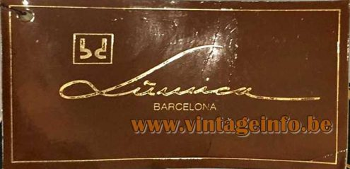 BD Lumica Barcelona Label attached on a lamp