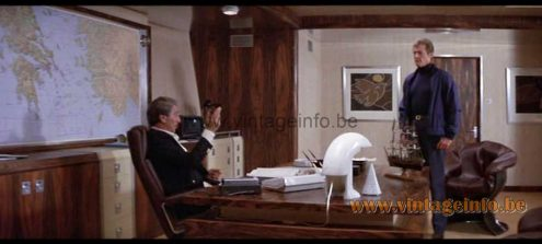 Tobia Scarpa Biagio table lamp used as a prop in the James Bond film For Your Eyes Only (1981)