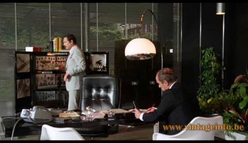 Acrylic & chrome arc floor lamp used as a prop in the 1979 film Bloodline