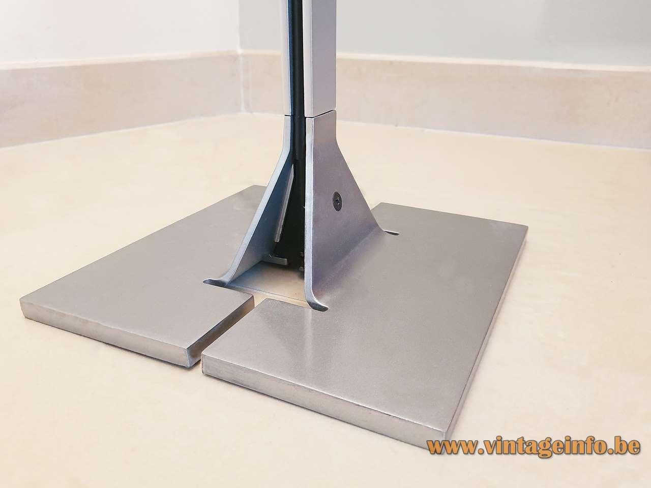 FLOS Papillona floor lamp 1975 design: Tobia Scarpa aluminium rod conical funnel-shaped lampshade 1970s Italy