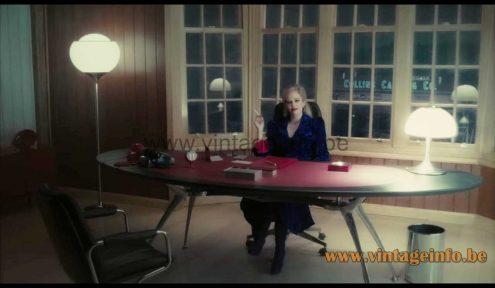 Harvey Guzzini Flash floor lamp used as a prop in the 2012 film Dark Shadows