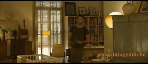 Harvey Guzzini Flash floor lamp used as a prop in the 2020 film Ofrenda A La Tormenta