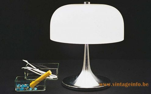 Harvey Guzzini Medusa Table Lamp, 1st Edition - Catalogue Picture