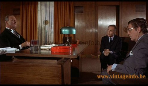 Harvey Guzzini Medusa table lamp used as a prop in the film Diabolik (1968) 1960s 1970s MCM Mid-Century Modern