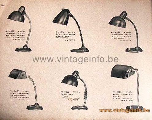 Kaiser Idell Desk Lamp 6556 - 1934 Kaiser Leuchten Catalogue