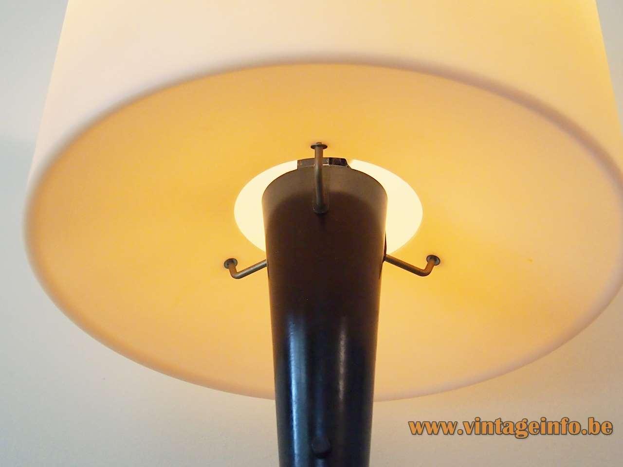 Lumina Duo table lamp design: Luciano Balestrini Paola Longhi metal base opal glass lampshade 1990s 2000s