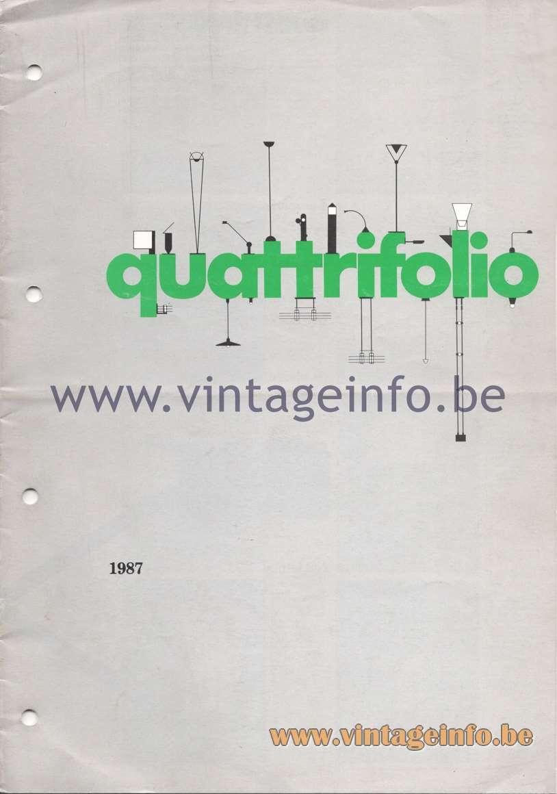 Quattrifolio Design Catalogue 1987 - cover