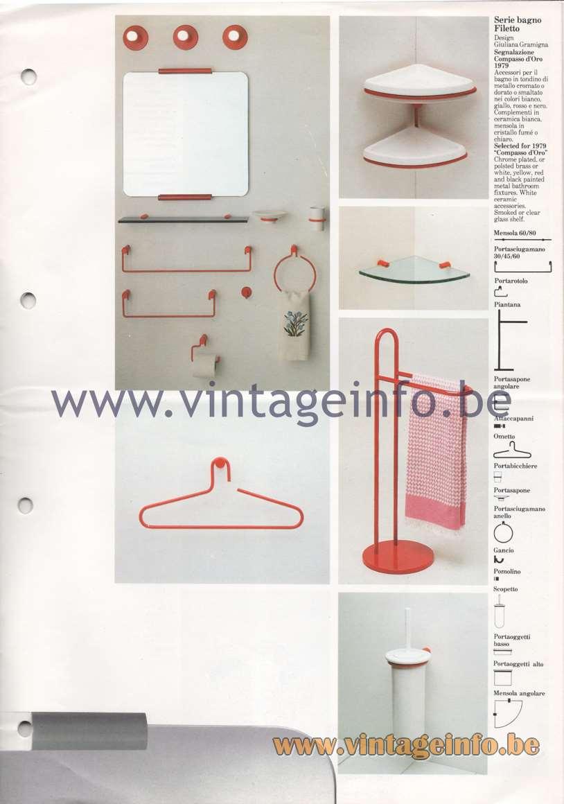 """Quattrifolio Serie bagno Filetto - Design Giuliana Gramigna - Selected for 1979 """"Compasso d'Oro"""""""