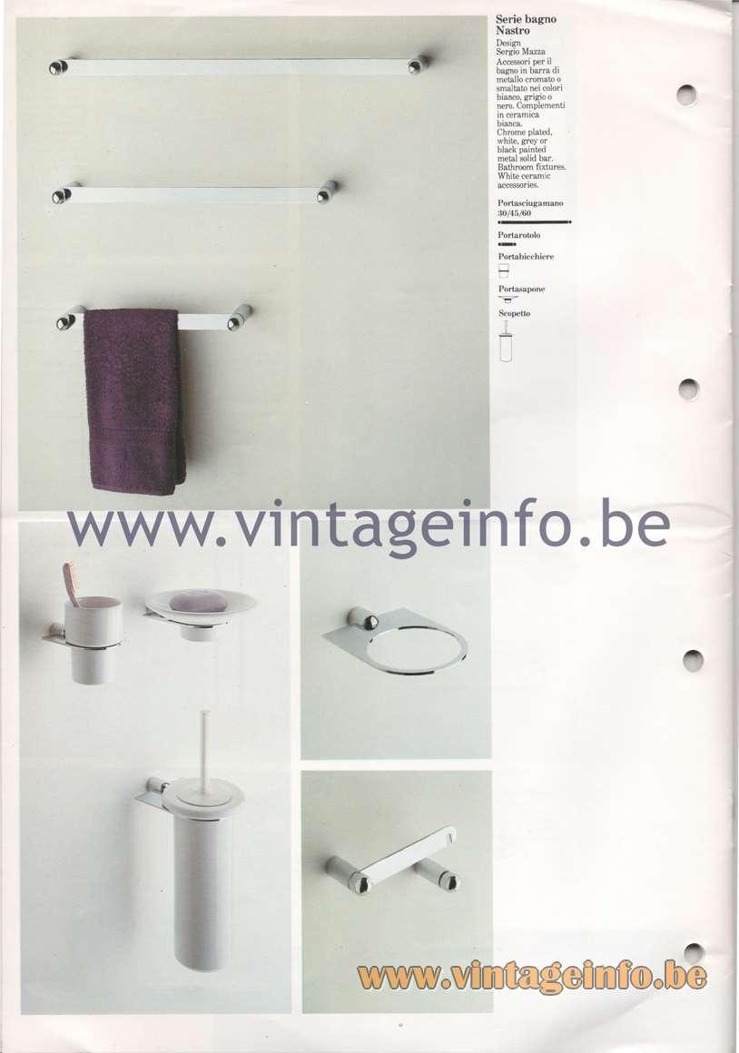 Quattrifolio Serie bagno Nastro - Design Sergio Mazza - Bathroom fixtures