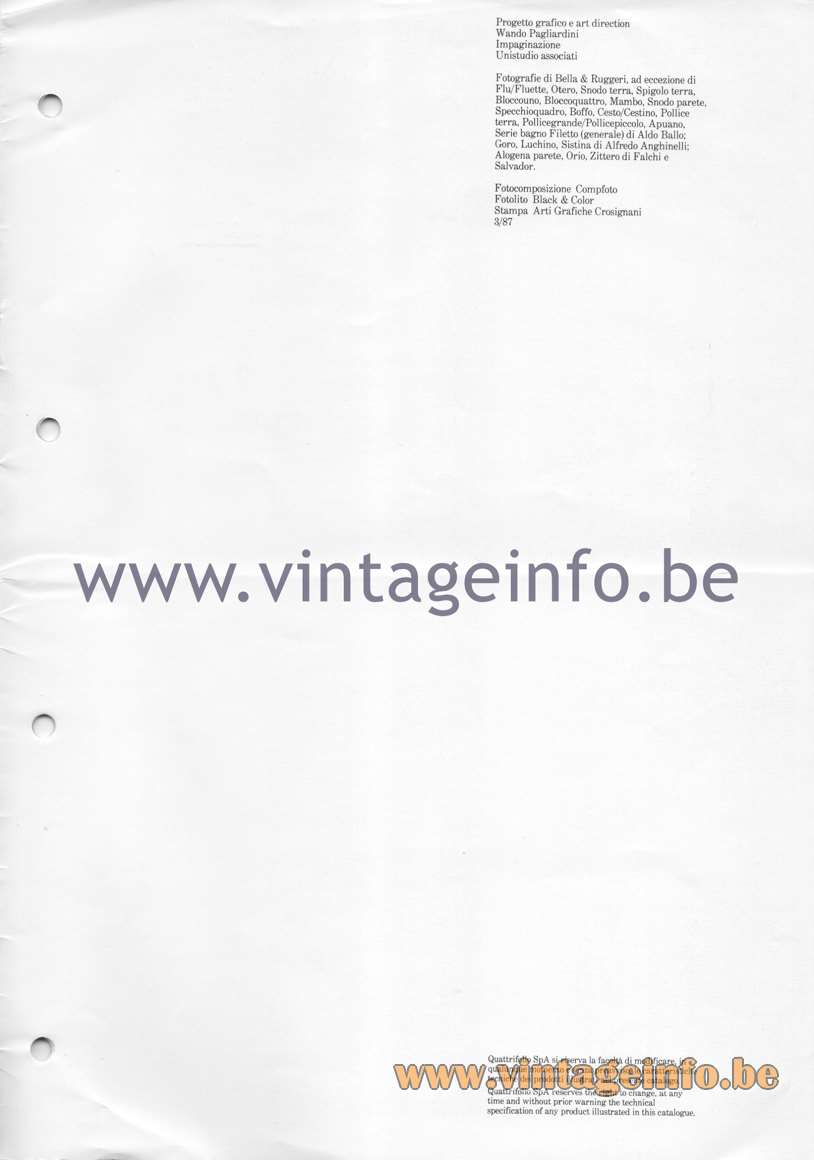 Quattrifolio Design Catalogue 1987 - page 15