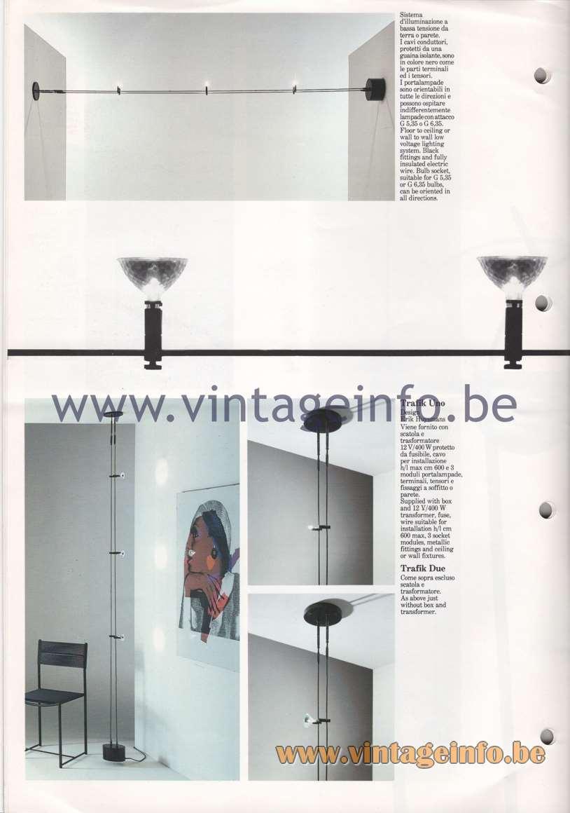 Quattrifolio Trafik Uno, Trafik Due - Design Erik Huysmans - Floor to ceiling or wall to wall lamp