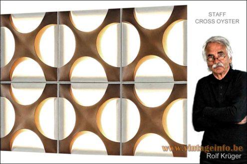 Rolf Krüger- Staff Cross Oyster Wall Lamp