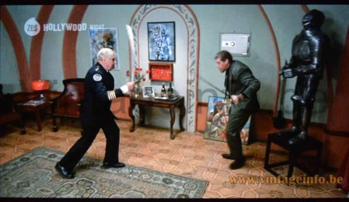 An iGuzzini Medusa table lamp used as a prop in the 1994 film Police Academy 7