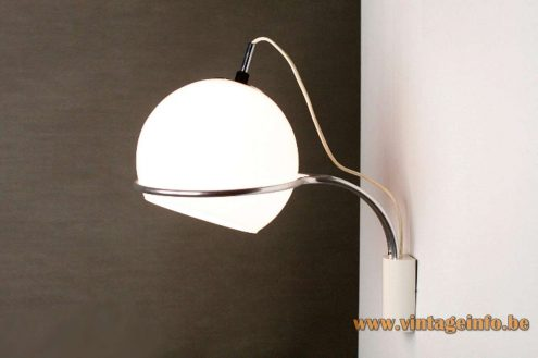 1960s Tramo Globe Table Lamp - Wall Lamp Version