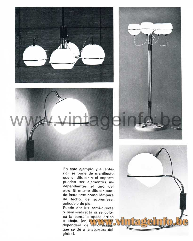 1960s Tramo globe lamps Design: Joan Antoni Blanc - Catalogue Picture