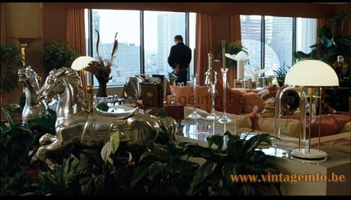 Mario Bellini Artemide Area 50 table lamps used as a prop in the film Sharky's Machine (1981)