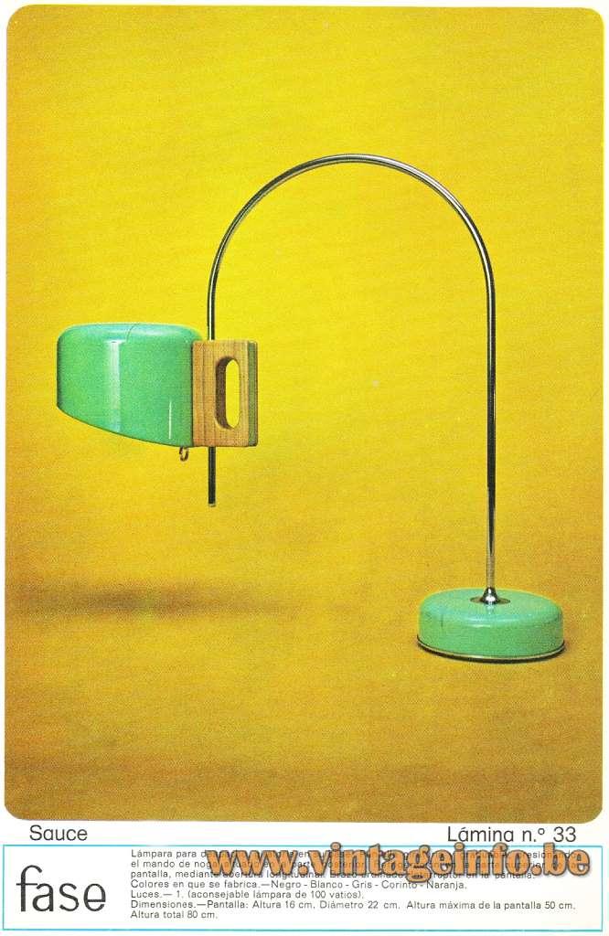 Fase desk lamp Sauce chrome rod round base & lampshade Spain Joe Colombo 1960 1970s MCM Mid-Century Modern