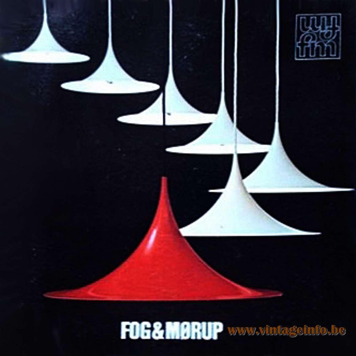 Fog & Mørup Semi Pendant Lamp - Catalogue Picture - 1967 Design: Torsten Thorup & Claus Bonderup, Denmark